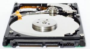 Eine defekte Festplatte eines PCs