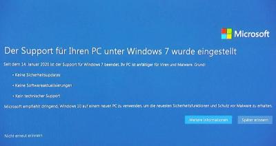 Kann ich Windows 7 weiter nutzen nach dem Win7 Support Ende?