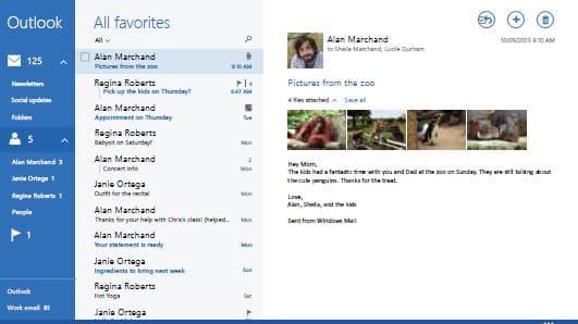 Outlook auf einem virtuellen Desktop im IT-Service