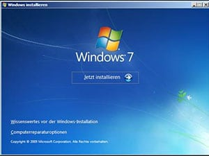 Upgrade auf Windows 7