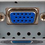 VGA Anschluss für einen Monitor