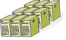 Viele Server zu einem virtualisieren in der cloud