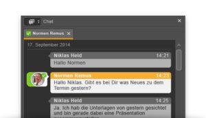 Eingebauter Chat im Starface UCC Client